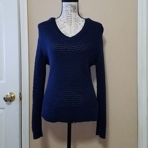 Women's V neck Mesh Sweater by A New Day!